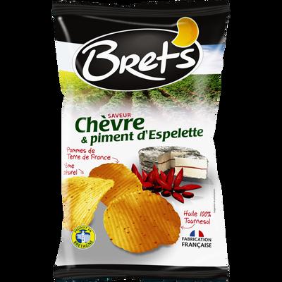 Chips super craquante saveur chèvre piment d'Espelette BRET'S, paquetde 125g