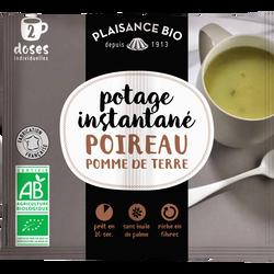 Potage instantané Poireau - Pomme de terre PLAISANCE BIO, sachet pour 2 doses individuelles, 17g