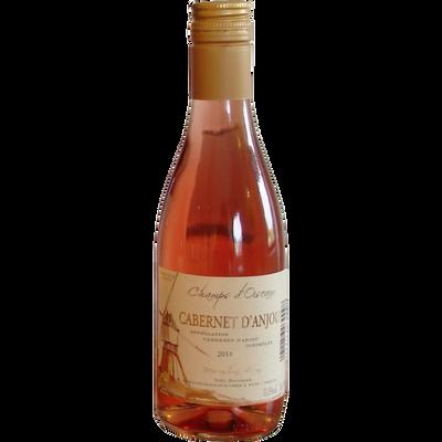Cabernet d'Anjou AOP rosé LES CHAMPS D'OISEAUX, bouteille de 25cl