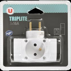 Triplite, U, 3x16A, latérale