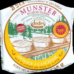 Munster, AOP, affiné crémier, au lait pasteurisé, 125g