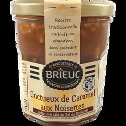 Onctueux de caramel aux noisettes au beurre salé au sel de Guérande BRIEUC, 320g