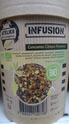 Infusion curcuma citron pommes bio 45gr atelier des cafés