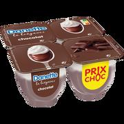 Danone Dessert Lacté Au Chocolat Le Liégeois Danette, 4x100g