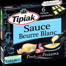 Sauce beurre blanc TIPIAK, 6 unités de 50g soit 300g