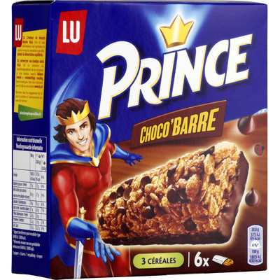 Biscuits PRINCE Choco Barre, paquet de 125g
