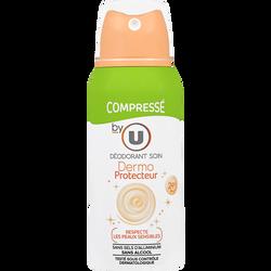 Déodorant compressé pour femme dermo-protecteur BY U, atomiseur de 100ml
