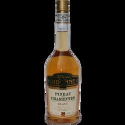 """Pineau des Charentes blanc """"Baronne de Fontignac"""" U, 17°, bouteille de75cl"""