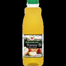"""Pur jus de pomme du Val de Loire """"fruits de chez nous"""" U, bouteille de1l"""