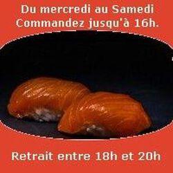 Sushi par paire saumon SUSHI MONT BLANC