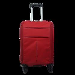Valise à roulettes en polyester 34,5x20x59cm rouge-petit modèle 2,4kg-4 roulettes et intérieur zippé