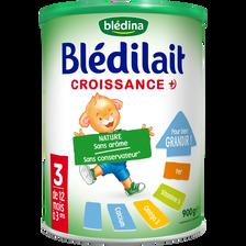 Blédina Bledilait Croissance Poudre Dès 12 Mois, Boîte De 900g