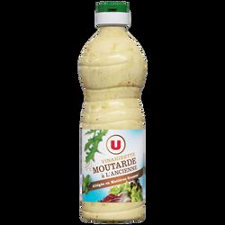 Vinaigrette allégée en matières grasses à la moutarde à l'ancienne U,bouteille de 50cl