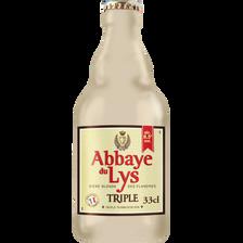 Bière triple ABBAYE DU LYSE, 8,5°, bouteille de 33cl