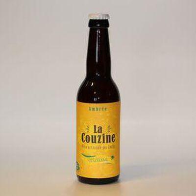 Bière artisanale La Couzine Mélissa ambrée 33cl