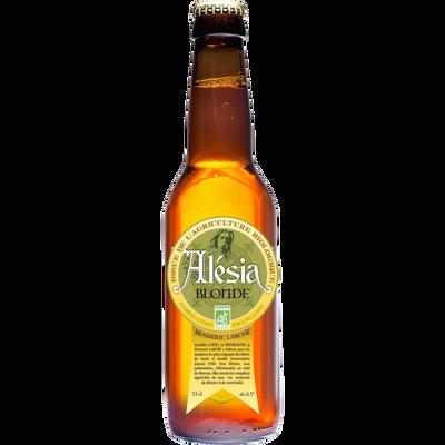 Bière blonde bio ALESIA 6.5°, bouteille de 33cl