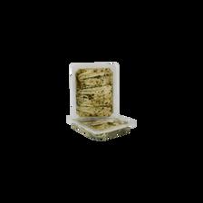 Filet d'anchois mariné à l'ail, transformé au Maroc, barquette de 200g