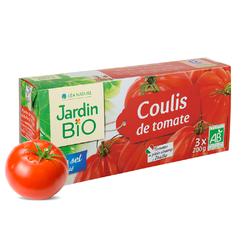 Coulis de tomate sans sel ajouté JARDIN BIO 3x200g