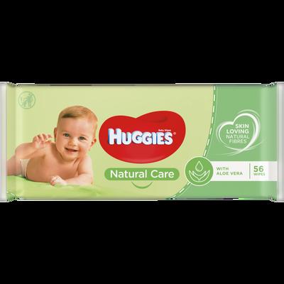 Lingettes natural care HUGGIES, x56