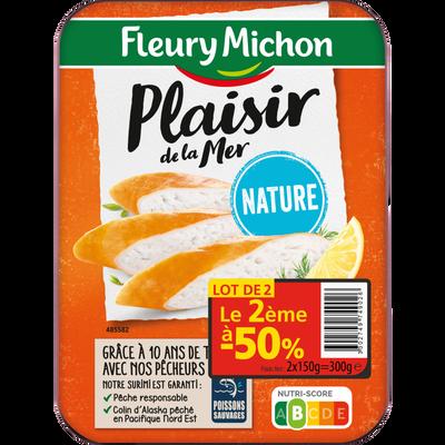 Plaisir de la mer nature FLEURY MICHON, 2x150g, le 2ème à -50%