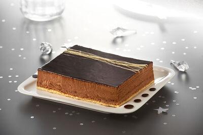 Croustillant chocolat décongelé, 6 parts, 700g