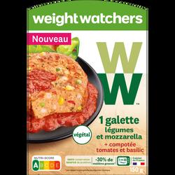Galette de légumes et mozzarella WEIGHT WATCHERS, 150g