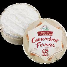 Camembert fermier au lait pasteurisé FERME DE LA TREMBLAYE, 24% de MG,250g
