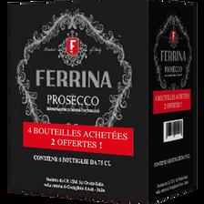 Prosecco DOC brut blanc Casa Ferrina 4x75cl + 2 offertes