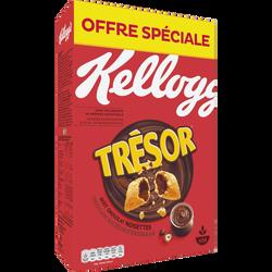 Céréales chocolat noisettes Kellogg's TRESOR, 750g
