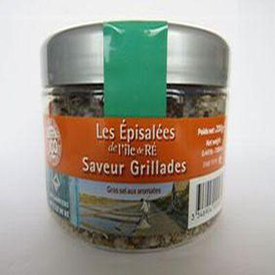 Les épisalées de l'Île de Ré, saveur grillade, 200gr, boite,Les sauniers de l'Île de Ré