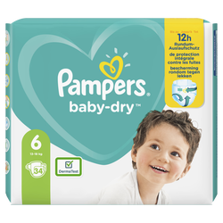 Couches baby dry langes géant taille 6 PAMPERS x34