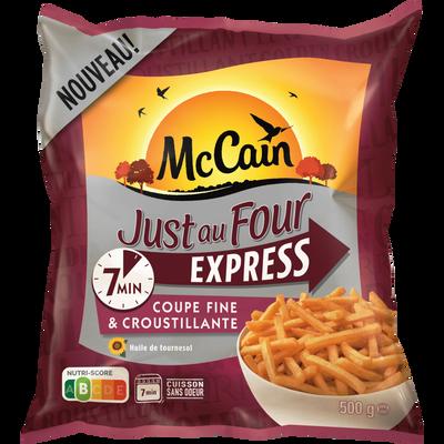 frites Just au four express MC CAIN, sachet de 500g