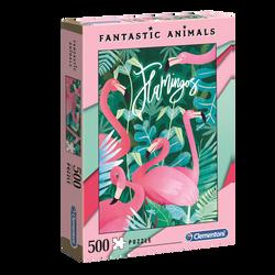 Puzzle 500 pièces fantastic animal CLEMENTONI Flamants