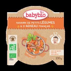 Assiette navarin de petits légumes & d'agneau BABYBIO, 230g