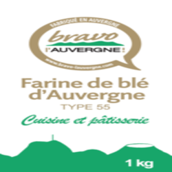 Farine t55 cuisine et pâtisserie BRAVO L'AUVERGNE sachet 1kg