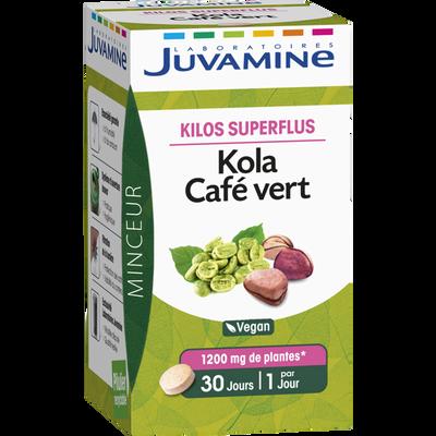 JUVAMINE KOLA CAFÉ VERT, Kilos superflus, 30 comprimés