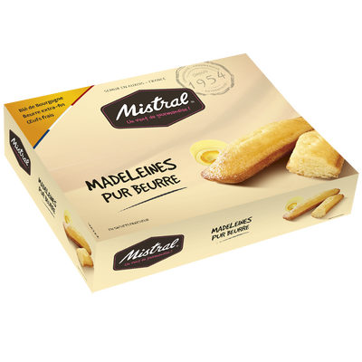 Madeleines pur beurre MISTRAL, boîte 600g