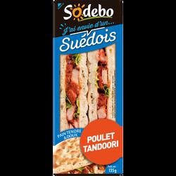 Sandwich pain polaire et poulet tandoori SODEBO, 135g