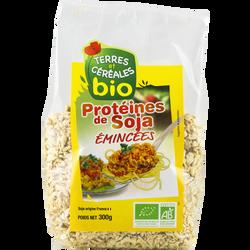 Protéine de soja emincées bio TERRE ET CEREALES, sachet de 300g
