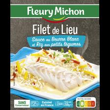 Lieu sauce Nantaise et riz aux petits légumes FLEURY MICHON, 250g