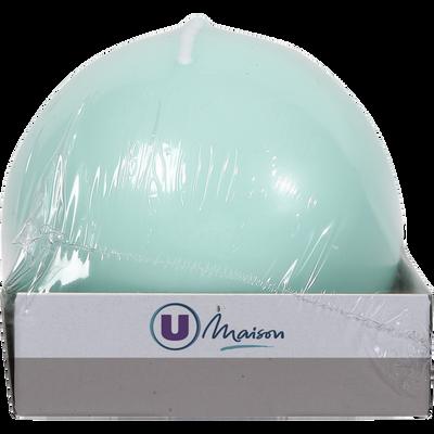 Bougie boule U MAISON, 78mm, vert d'eau
