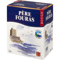 Vin rouge IGP de pays charentais Père Fouras, fontaine à vin de 5l