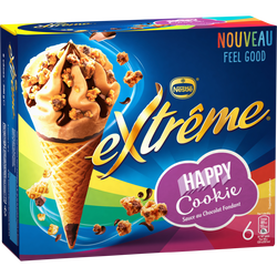 Cônes happy cookie EXTREME, x6 soit 396g