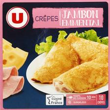 10 Crêpes jambon fromage U,  paquet de 500g