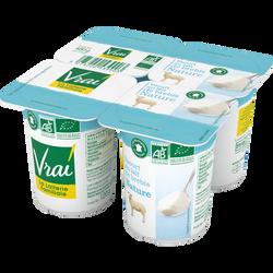 Yaourts au lait de brebis nature BIO VRAI, pack de 480g