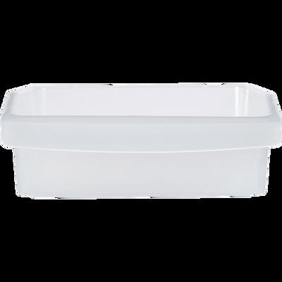 Bac de rangement réfrigérateur en polypropylène U MAISON,150x334,8x60mm, translucide neutre