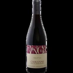Vin rouge AOC Côtes du Rhône Villages Cairanne GRAIN DE CUVEE, bouteille de 75cl