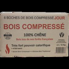 BUCHE BREIZH DENSIFIE 100% CHENE 7KG-BOIS COMPRESSE