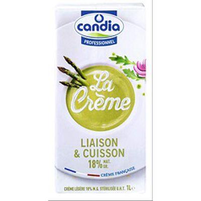La crème, liaison & cuisson 18% MG, CANDIA, brique de 1l