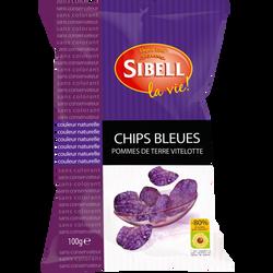 Chips bleue pomme de terre vitelotte, SIBELL, 100g